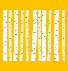 Autumn aspen grove seamless tileable background vector