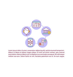 Bank support line concept icon with text vector