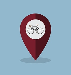 Bicycle map pin vector