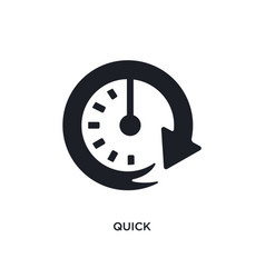 Black quick isolated icon simple element from vector