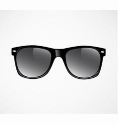 black sunglasses template vector image