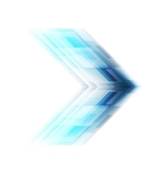 Blue arrow tech background vector