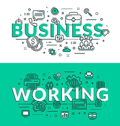 Business and working related icons Colored flat in vector image