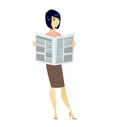 business woman reading newspaper vector image