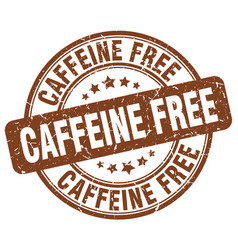 Caffeine free brown grunge stamp vector