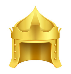 Cartoon gold king crown isolated vector