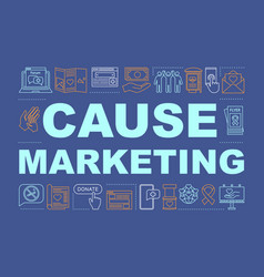 Cause and ethical marketing word concepts banner vector