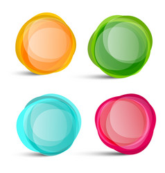 circle shapes abstract colorful elements isolated vector image