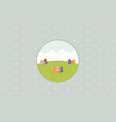Collection of easter background flat vector