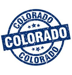 Colorado blue round grunge stamp vector