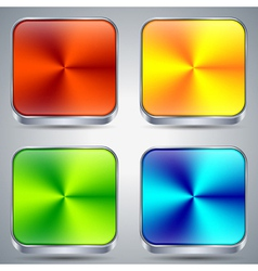 Colorful metallic buttons vector image