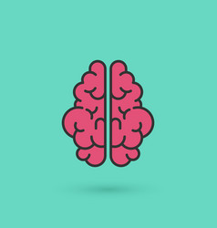creative brain icon concept for business concept vector image
