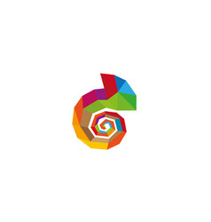 creative chameleon logo vector image