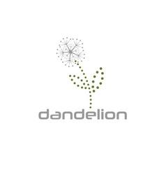 Cyber dandelion design template vector