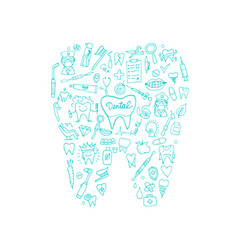 Dental clinic concept sketch for your design vector