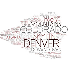 Denver word cloud concept vector