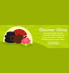 discover china banner horizontal concept vector image