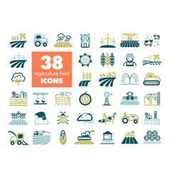 Farm field icon agriculture sign vector