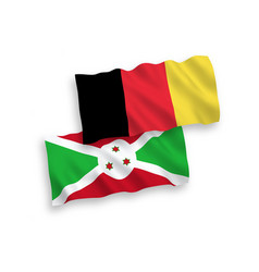 Flags belgium and burundi on a white background vector