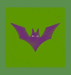Flat shading style icon halloween bat vector