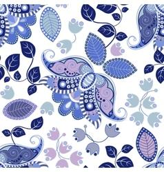 Floral seamless pattern Summer flowers wallpaper vector image