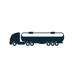 gasoline tanker truck simple flat icon vector image