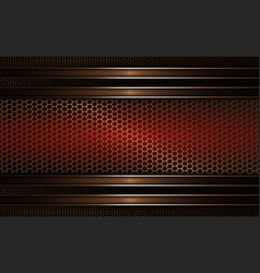 Geometric mesh background of dark red golden hue vector