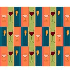 glasses wine pattern vector image