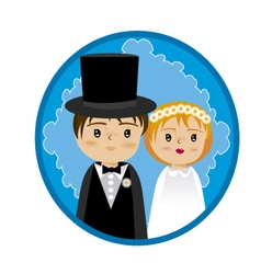 grooms and wedding vector image