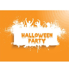 grunge halloween party 2508 vector image