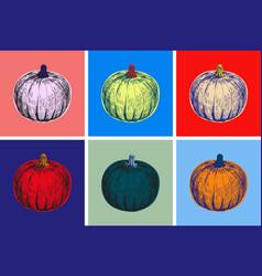 Halloween pumpkin hand drawing vector