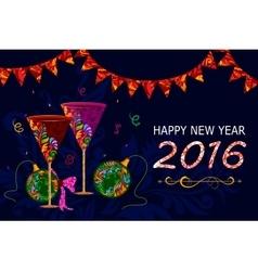 Happy New Year celebration background vector