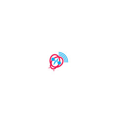 heartbeat animal logo icon vector image