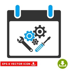 Instrument Tools Calendar Day Eps Icon vector image