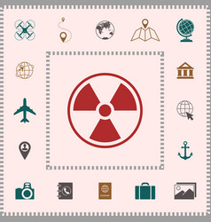 Ionizing radiation icon elements for your design vector
