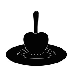 Isolated caramel apple vector