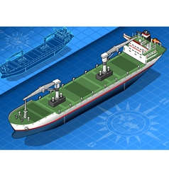 Isometric cargo ship vector image