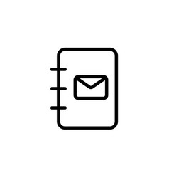 Line phonebook contact book icon vector