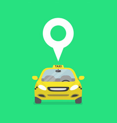 map pin with taxi car sign vector image