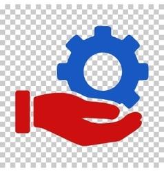 Mechanic Gear Service Hand Icon vector