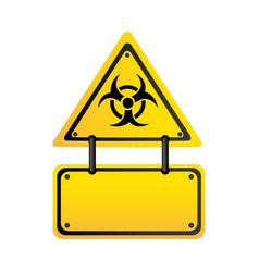 Metal biohazard warning notice sign icon vector