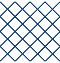 Navy Blue White Grid Chess Board Diamond vector image