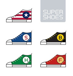 Outline urban super shoes Stylized sneakers Sport vector image