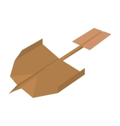 Paper plane creative idea icon vector