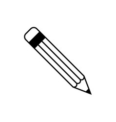 pencil icon signs education in trendy flat vector image