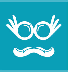 perfect finger eye logo template design and vector image