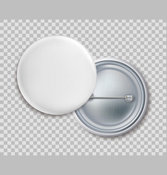 pin badges blank round metal button badge or vector image