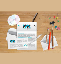 realistic office table vector image