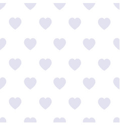 seamless background with gray hearts on a white vector image