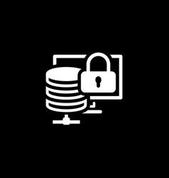 secure storage icon flat design vector image